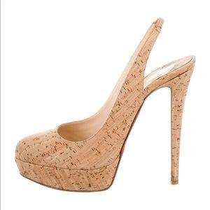 Christian Louboutin cork heels